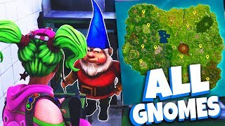 ALL HUNGRY GNOME LOCATIONS - Week 8 Fortnite Challenges