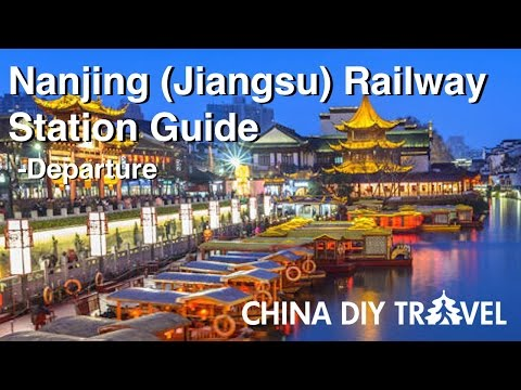 China trains - Departing from Nanjing (Jiangsu) train station