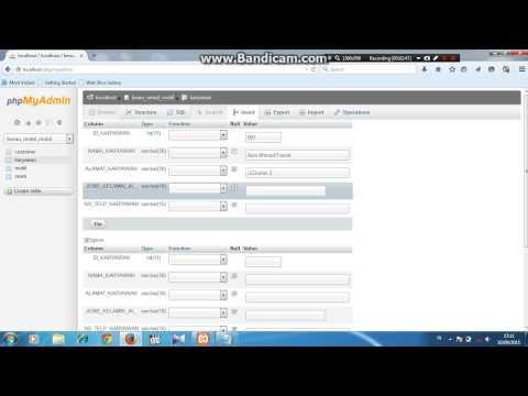 Tutorial Membuat Data Base RENTAL MOBIL