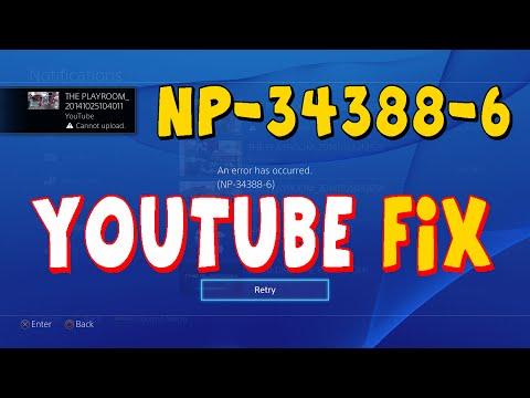 PS4 Youtube Upload Error Code NP-34388-6 Fix after update 2....