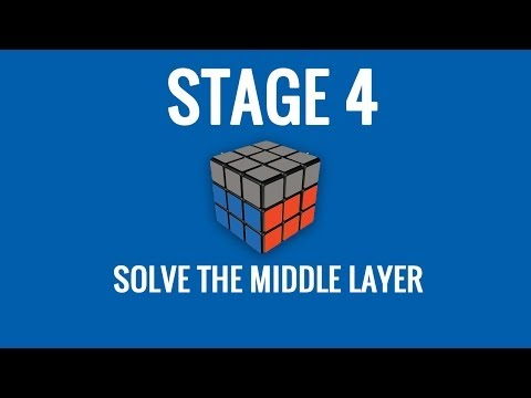Stage 4   Solve the Middle Layer of the Rubik's Cube