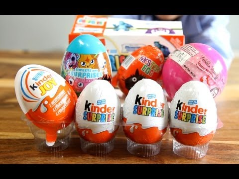 Hello Kitty Moshi Monsters Egg Disney Pixar Monsters University Kinder Surprise Joy Eggs SqwishLand