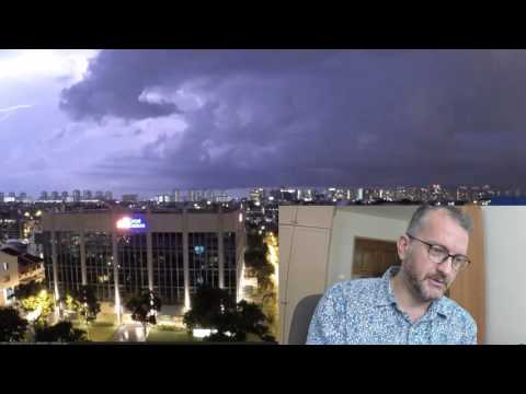 Brightest images from a lightning time lapse in Singapore
