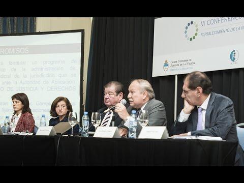 VI Conferencia Nacional de Jueces: panel Autarqu�a del Poder Judicial
