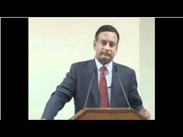 Ambassador Husain Haqqani speaking at National Defence University
