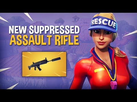 NEW Suppressed Assault Rifle!! - Fortnite Battle Royale Gameplay - Ninja