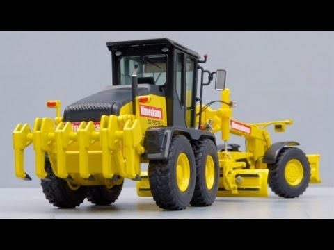 Cranes Etc TV: NZG HBM-NOBAS BG 190 TA-3 Motor Grader 'Hinnenkamp' Review
