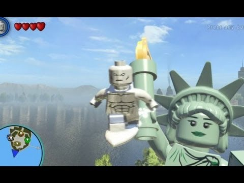 LEGO Marvel Super Heroes (PS4) - Silver Surfer Free Roam Gameplay