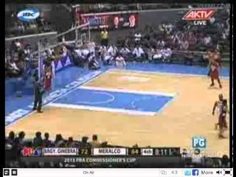 Ginebra vs Meralco Voltz Replay March 22. 2013 3rd and 4rt Quarter