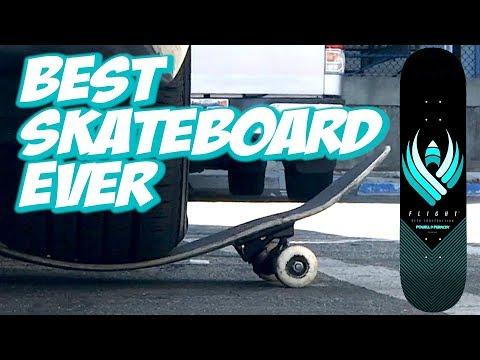 BEST SKATEBOARD EVER ??? POWELL FLIGHT BOARD UNBOXING AND SKATE TEST !!! - NKA VIDS -