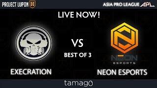 Execration vs Neon Esports Game 3 (BO3)   Asia Pro League