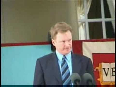 Conan O'Brien's Speech to the Havard Class of 2000.(Pt 1 of 2) Video