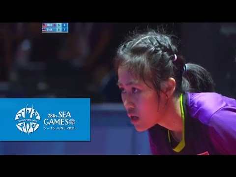 Table Tennis (Women's Singles Finals Thailand Vs Malaysia) | 28th SEA Games Singapore 2015