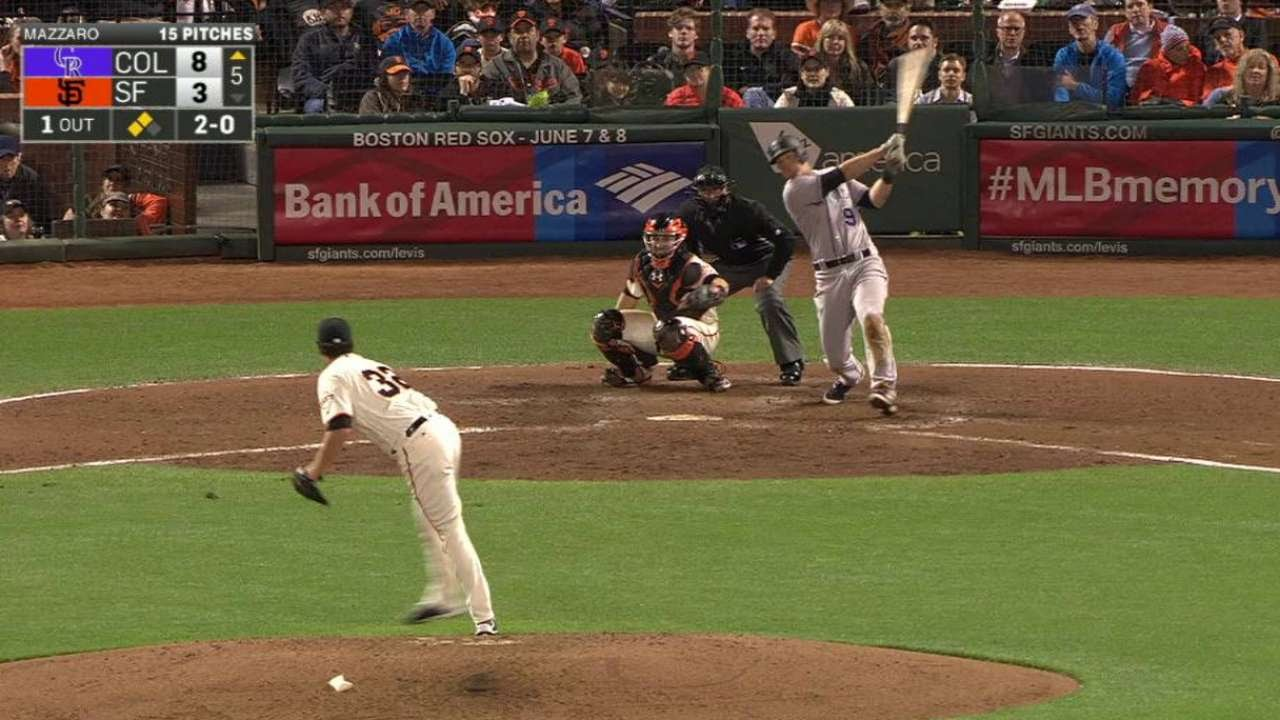 COL@SF: LeMahieu drives in a run with a single