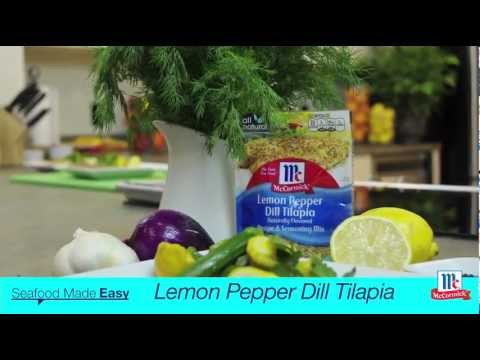 How To Make Tilapia – Lemon Pepper Dill Tilapia Recipe