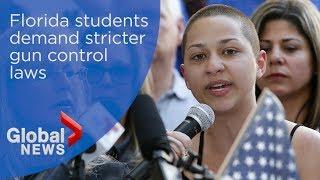 'We call BS': Florida students demand stricter gun control laws