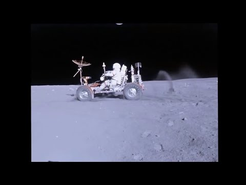 LRV on the Moon - Apollo 16 - HD Video Stabilized