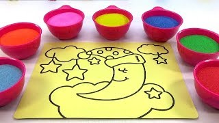 Xúc Xắc Xúc Xẽ! Đồ Chơi Trẻ Em - TÔ MÀU TRANH CÁT NGHỆ THUẬT Colored Sand Painting