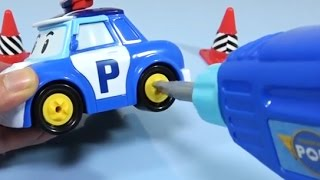 How to Make Police Car Tools toy with Learn Colors / Robocar Poli