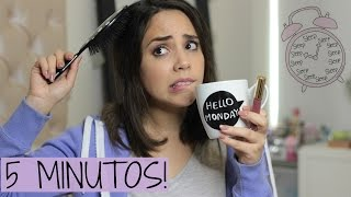 VAS TARDE? PEINADO, MAQUILLAJE Y LOOK DE 5 MINUTOS! | What The Chic