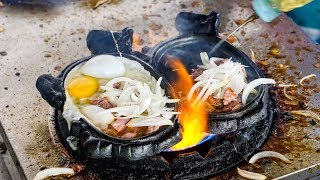FLAMING BEEF and EGGS! - Must-Eat Cambodian Street Food Dish in Phnom Penh!