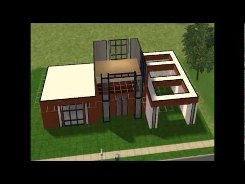 Los sims 2 construcci n de casa moderna cubo coffee for Casa moderna los sims 3