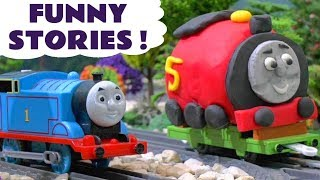 Thomas & Friends funny stories with Play Doh and Tom Moss - Toy trains for kids and children TT4U