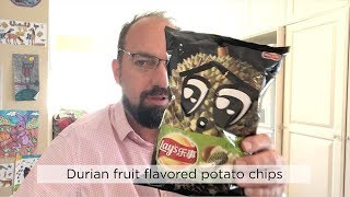 Lay's China Durian Fruit Flavored Potato Chips Review