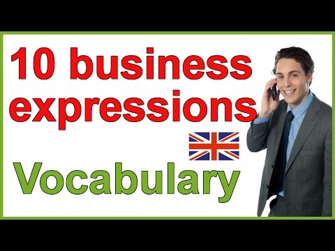 Business English expressions | Conversation