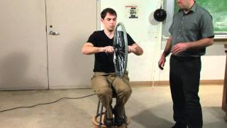 Spinning Wheel on Spinning Chair