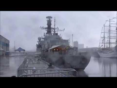 HMS Northumberland, Belfast Pollock dock