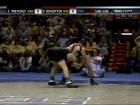 College Wrestling Metcalf vs Schlatter 2008 big ten finals Video