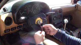 Miata Nardi install with horn & no airbag light