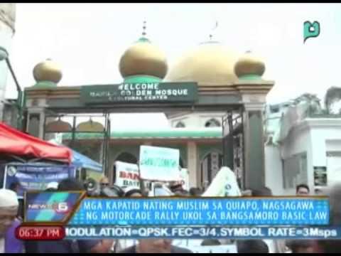 Mga kapatid nating Muslim sa Quiapo, nagsagawa ng motorcade rally ukol sa Bangsamoro Basic Law