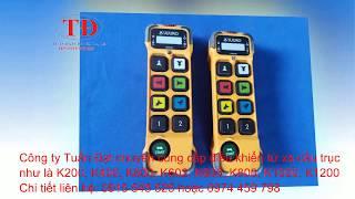 Điều khiển từ xa cầu trục K200, K400, K600, K602, K606, K800, K808, K1000, K1200, K1212