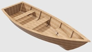 Design of a small boat full length