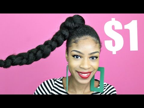 Jumbo Braid Ponytail with Kanekalon Hair► Natural Hair Protective Styles