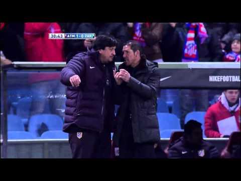 Gol de Tiago (1-0) en el Atlético de Madrid - Real Zaragoza - HD