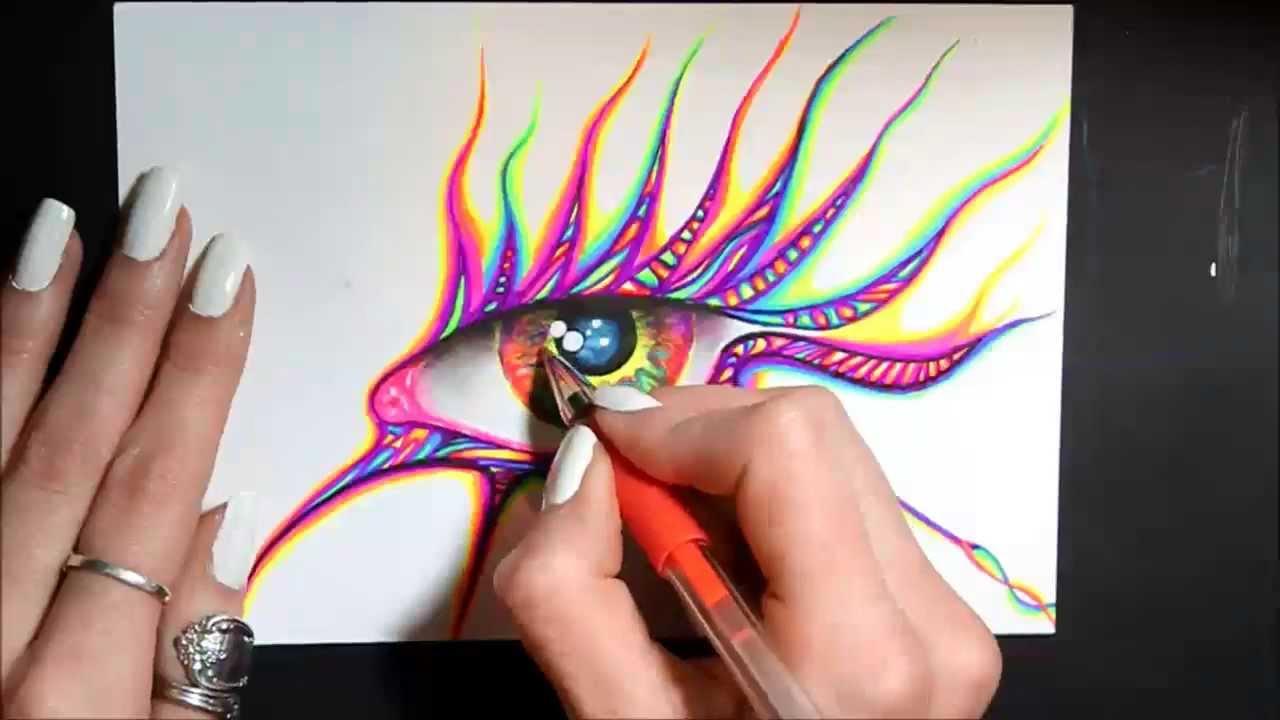 Gel Pen vs Ballpoint Gel Pen Art Eye