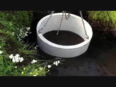 Септик из трубы на болоте