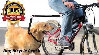 Bike Leash for dog Hands free Exerciser-Don't leave your dog home anymore while you ride your bike!