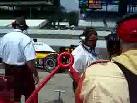 Jaques Lazier Leaving Pit Video