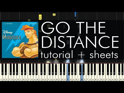 Hercules - Go the Distance - Piano Tutorial - How to Play