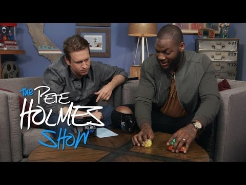 Pete gets excited when Martellus gets to the part about end zone dances. More Pete and Crew @ http://peteholmes.com This is the official YouTube channel of P...