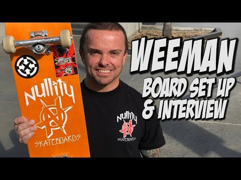 WEE MAN BOARD SET UP AND INTERVIEW !!!