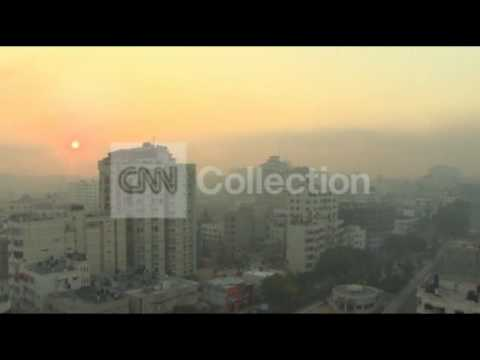 MIDEAST: HAZY SKIES OVER GAZA AT DAWN