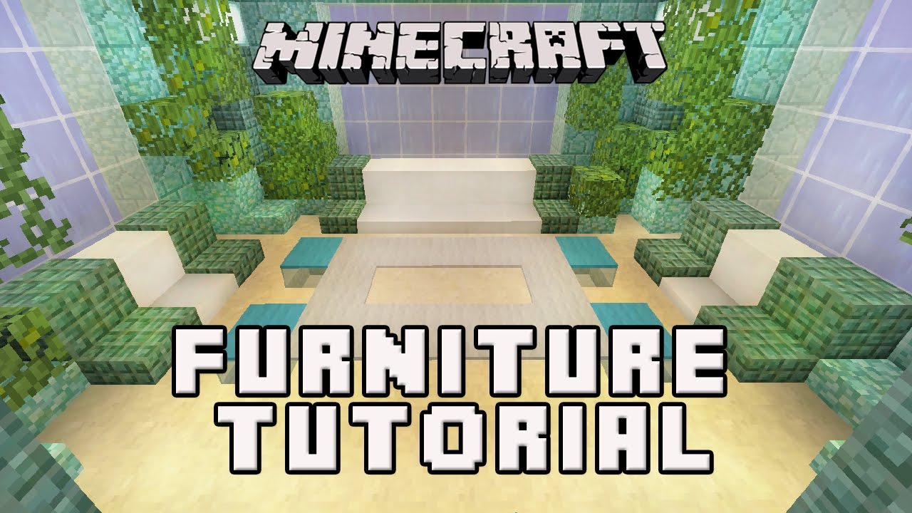 Minecraft Tutorial How To Make Livingroom Furniture Coral House Build Part 5 Youtube