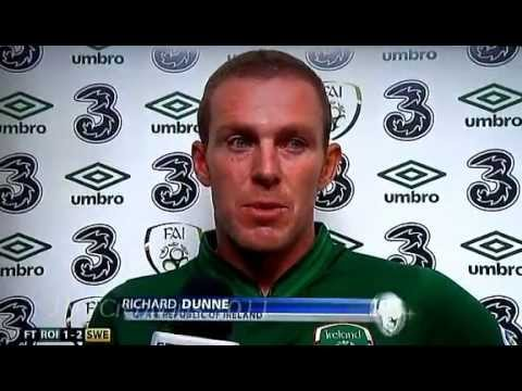 Richard Dunne Post Match Interview Republic Of Ireland 1-2 Sweden 6/9/13