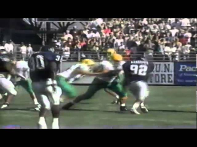 Oregon TE Blake Spence 22 yard catch vs. Nevada 9-13-1997