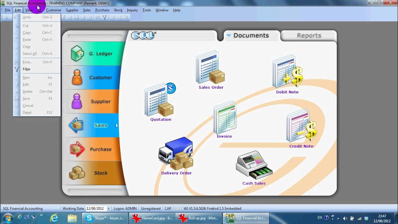 A000 Demo Video Sql Accounting Software Youtube